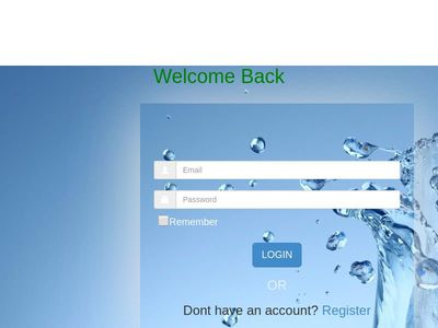 website Login page