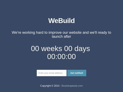 TEST: We Build Theme Countdown