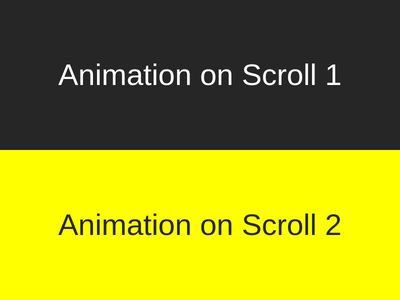 Animation On Scroll