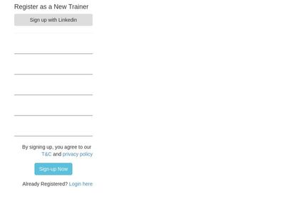 trainer registration