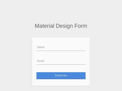 Material Design Login Form