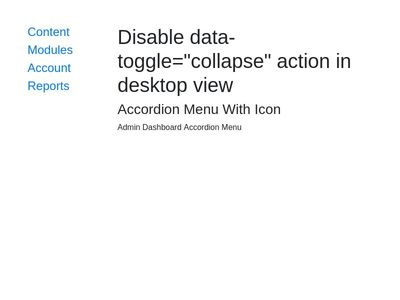 "disable data-toggle=""collapse"" action in desktop view"