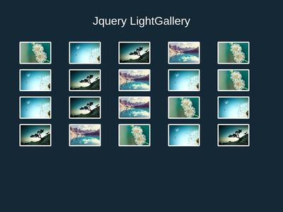 LightGallery using jQuery