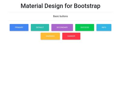 Material Design Basic buttons