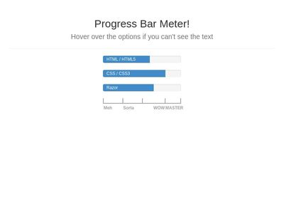 Progress Bar Meter