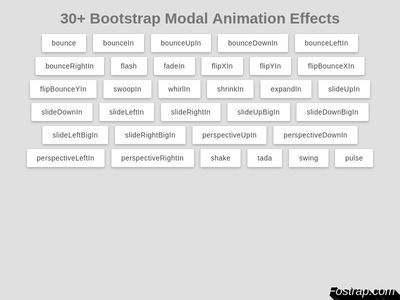 30+ Bootstrap Modal Animation Effects