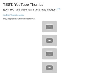 TEST: YouTube Thumbs