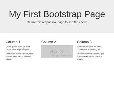 BOOTSTRAP TRAINING - First Bootstrap Page
