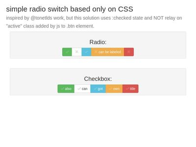 css only fancy radio/checkbox controls switch