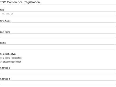 conference registration form