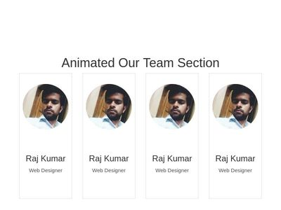 Animated Team Section
