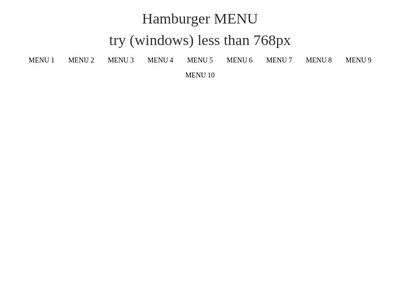 responsive hamburger menu