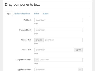 Bootstrap Snippet Bootstrap 3 - Form Builder using HTML CSS