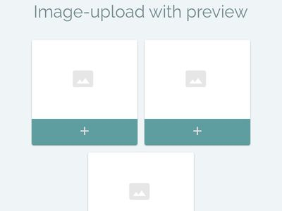 Bootstrap Snippet upload image using HTML