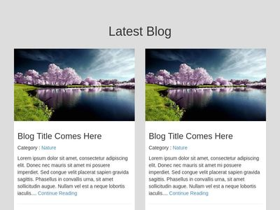 Latest Blog Page Style Using Bootstrap