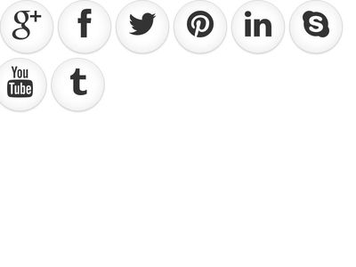 Social Button on Hover Color