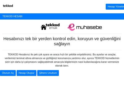 TEKKOD | Account Page Template