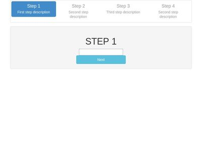 bootstrap multi step form
