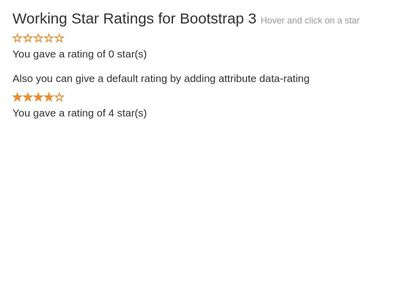Functional Ratings