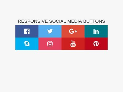 Responsive Social Media Buttons