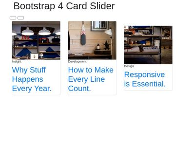 How to make a multi item carousel with cards in Bootstrap 4
