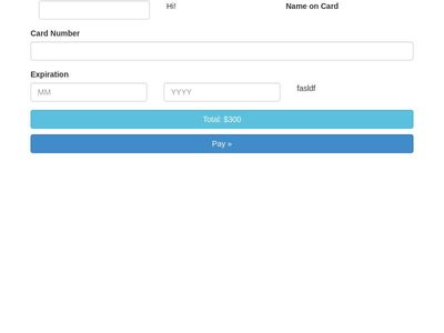 Responsive Stripe payment form