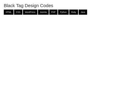 Black Tag Design