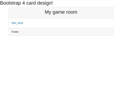 bootstrap 4 card.