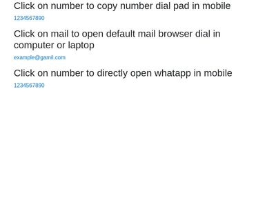 Link on mobile number and email id