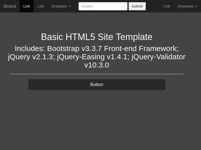 Basic HTML5 Site Template w/ JavaScript Form validation Using RegEx
