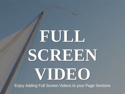 Ful Screen Video Background