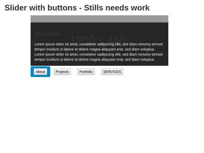 Slider with Buttons - Moodle 3.3.3