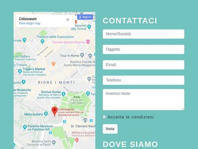 maps google and form contact