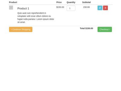 Bootstrap Checkout Examples