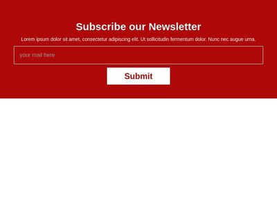 Subscribe Section- box in the center code