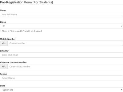 Pre-Registration Form [For Students]