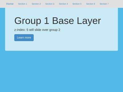 Bootstrap Snippet Parallax Single Page using HTML CSS jQuery