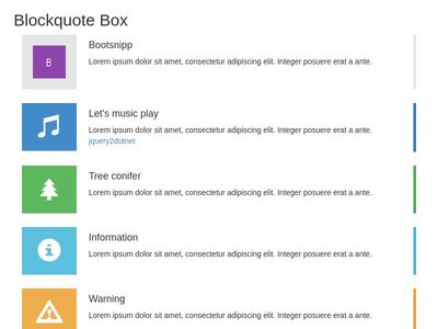 Blockquote Box