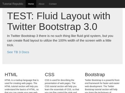 TEST: Fluid Layout with Twitter Bootstrap 3.0