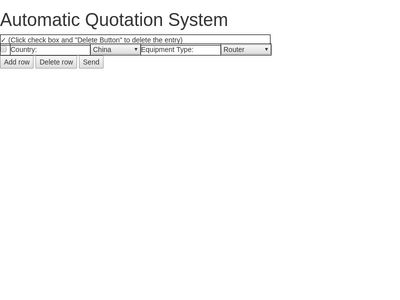 Automatic Quotation System
