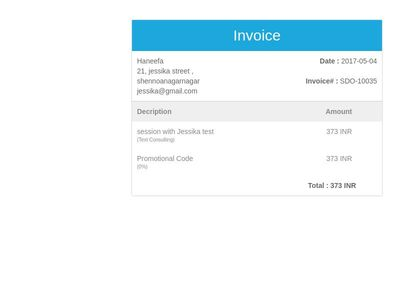 Bootstrap Snippet invoice using HTML