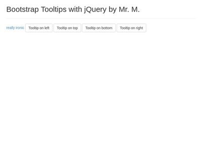 TEST Tool Tip and jQuery