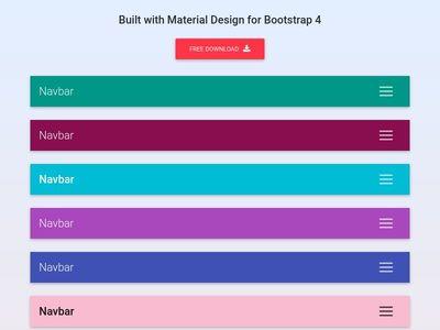 Bootstrap Snippet Bootstrap Navbar - Material Design