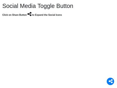 Social Media Toggle Button