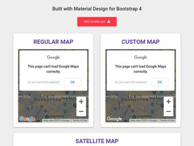 Bootstrap Google Maps - Material Design & Bootstrap 4