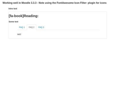 Tabs in reading block - Moodle 3.3.3
