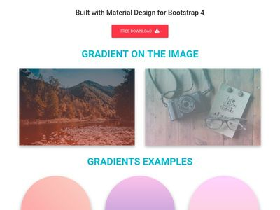 Bootstrap Gradients - Material Design & Bootstrap 4