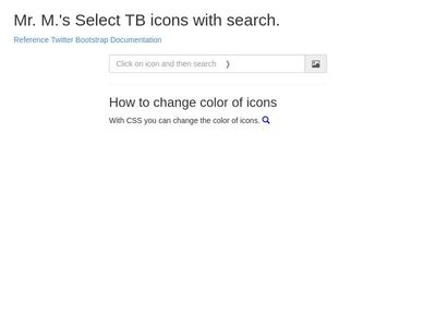 Icons Search Dropdown