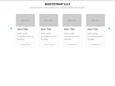 Bootstrap item carousel