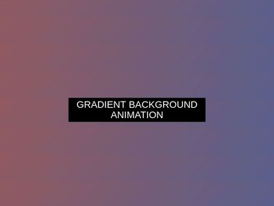 Background Gradient Animation